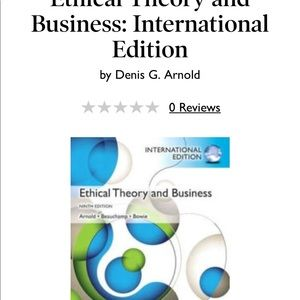 Ethical Theory and Business ninth edition
